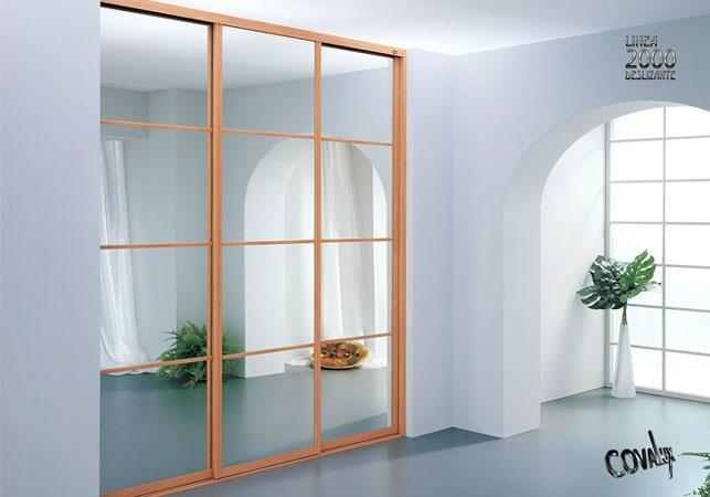 frentes de armario con espejo